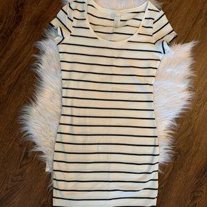 H & M Basic Striped Mini Bodycon Dress